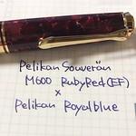 m600とペリカンロイヤルブルー
