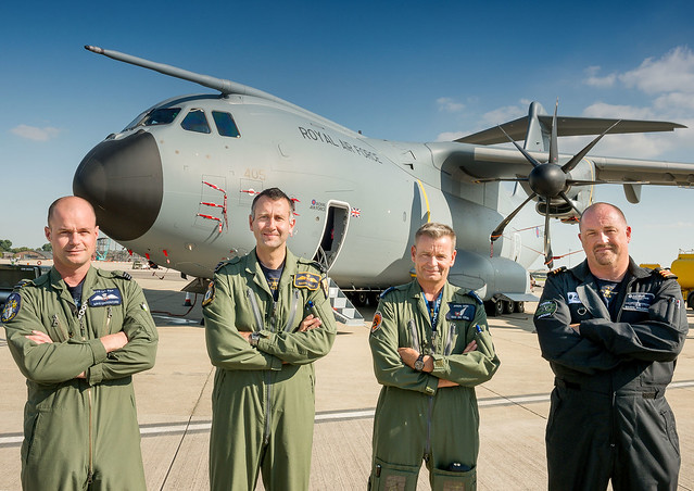 The Latest RAF A400M Atlas ZM405 Arrives at RAF Brize Norton