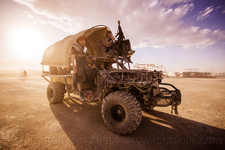 DSC01707 - Mad-Max Style Truck with Wagon Cover - Burning Man 2015   by loupiote (Old Skool) pro