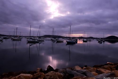 sea sunrise boats nikon marine scenery rocks waterfront australia views nsw coolpix daybreak brisbanewater p600 seaviews koolewong nswcentralcoast centralcoastnsw