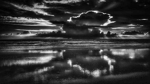 ocean morning sea sky bw sun seascape reflection beach water clouds sunrise landscape sand noir waves fuji atlantic amelia ameliaisland xe2