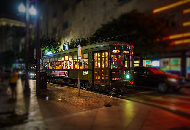 Streetcar at the Carondelet St. - New Orleans - Louisiana - USA