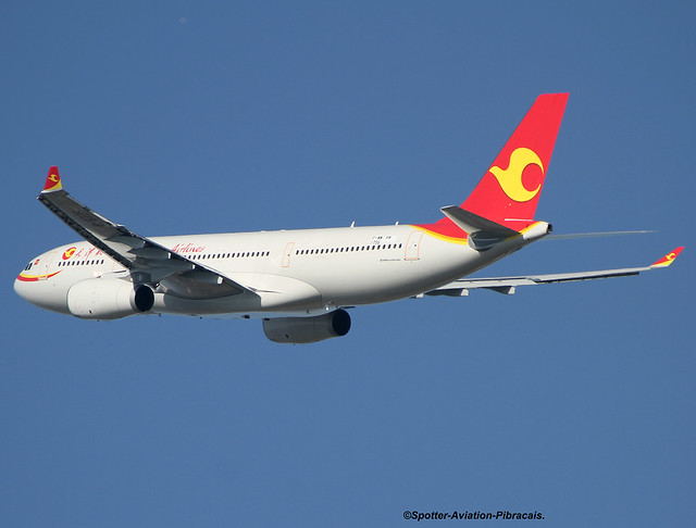 Tianjin Airlines. First Flight Of The Airbus A330.