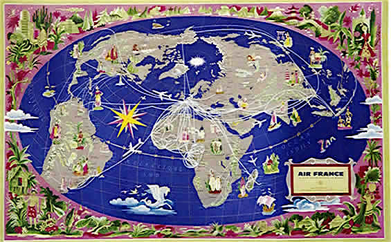 Map Of France Poster.Air France Poster Frl08729 World Route Map Jim Goodyear Flickr