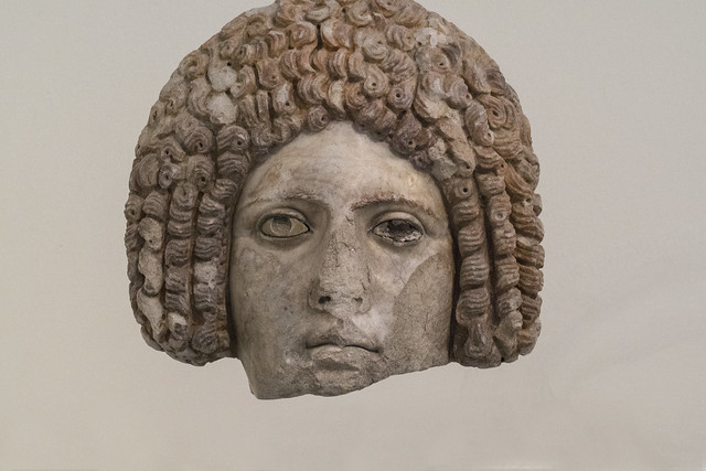 Flavian Art: Female Head in Form of Mask - [L. 1st c. AD]