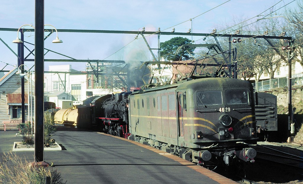 4629 and 5917 arrive at Katoomba, Main West, NSW, 14th June, 1980 by Dennis Rittson
