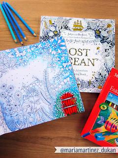 Lost Ocean (Oceano Perdido) + Jardin Secrecto, Johanna Basford | by Maria Martinez Dukan