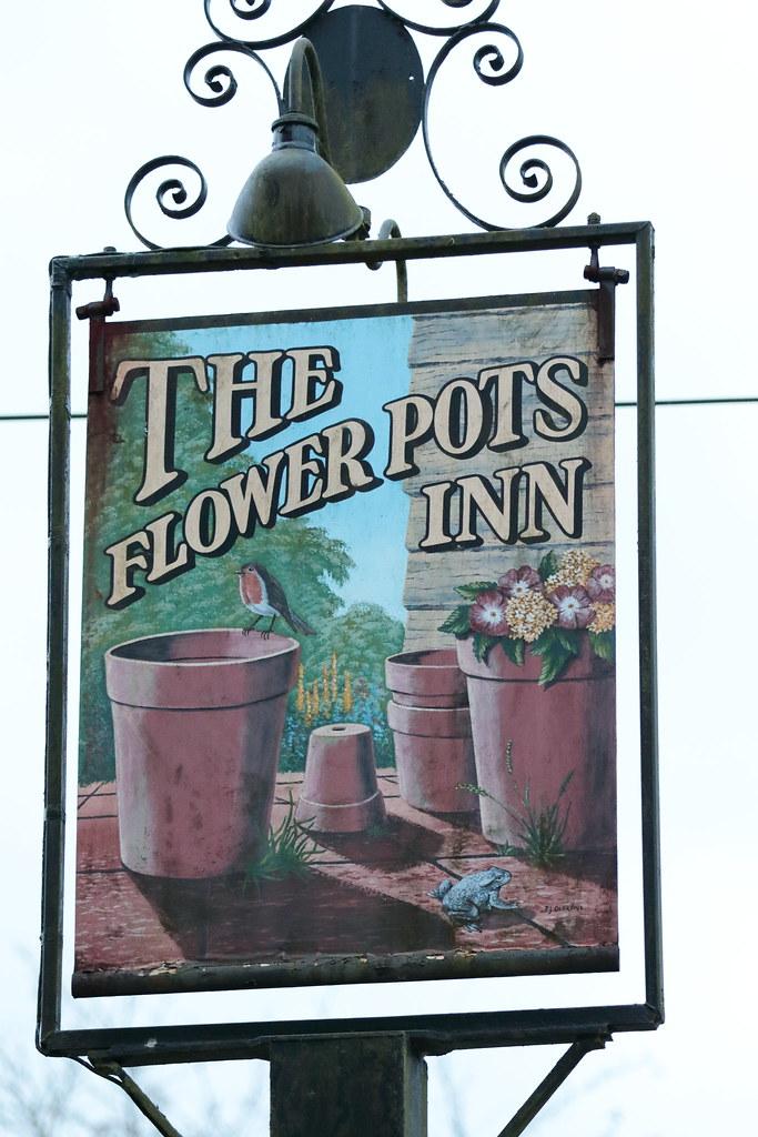 Flickr & The Flower Pots Inn pub sign Cheriton Hampshire UK | Flickr