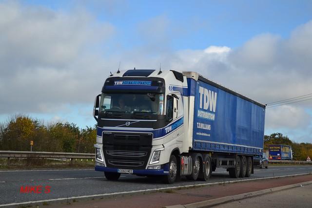 Volvo FH4 'T.D.W Distribution' reg CE63 NCC