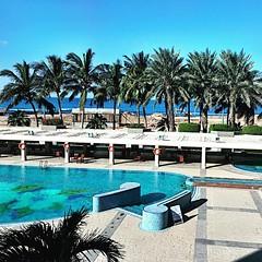 It's a beautiful day in #ksa #hijaz #saudi #sky #sea #hilton #café #jeddahigers #jeddahinstagramers #blue