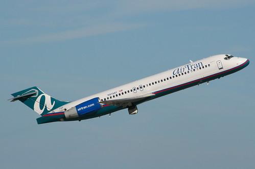 n919at boeing 717 airtran kfll fortlauderdale