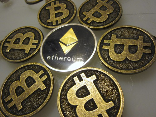 Bitcoin Keychains with Ethereum Collectible Coin IMG_2380   by btckeychain