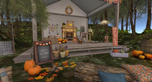 The Mustard Seed: Happy Autumn Welcome Sign | by Hidden Gems in Second Life (Interior Designer)