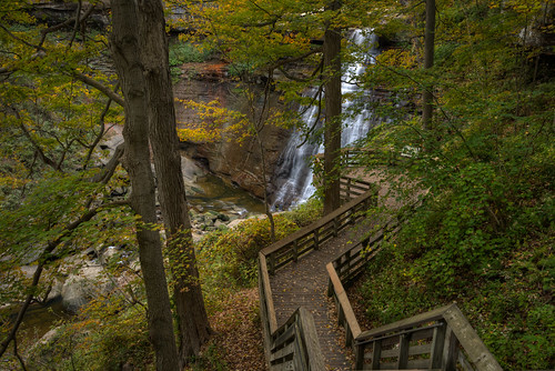 travel autumn ohio vacation fall nature leaves waterfall nationalpark nikon unitedstates outdoor falls trail d750 boardwalk hdr northfield circularpolarizer brandywinefalls cuyahogavalley 1635mm photomatix