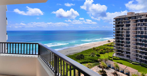 juno seashore view miamifl balcony blue architecture tourism travelling skies colors contemplation waterways clouds