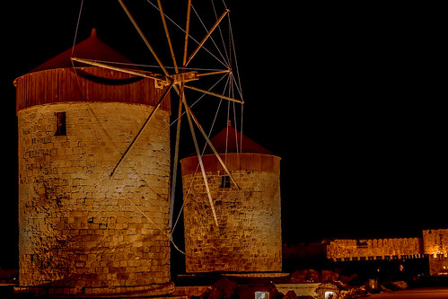 Windmills by night | by rodiann