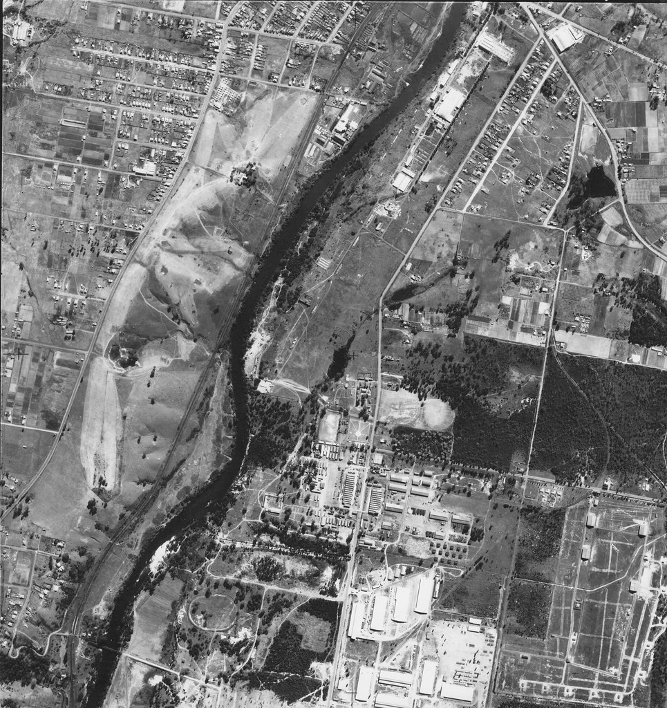 Casula,  Liverpool, Moorebank and Holdworthy Military Base in  1951 – Sydney  Aerial Photo