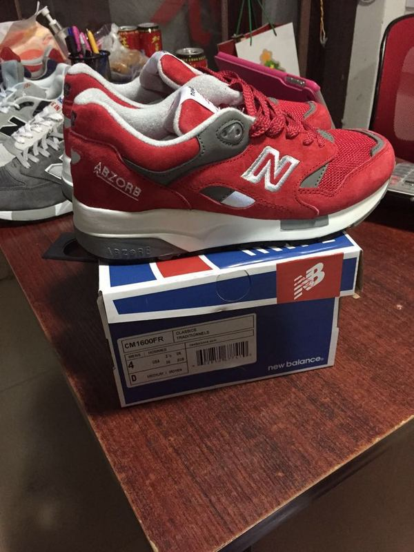 size 40 ade98 2ec44 NB 1600 Unisex New Balance 1600 Pig Leather Red White Snea ...