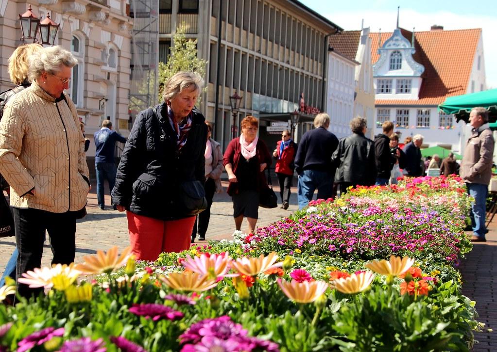 Bunte Blumen am Südermarkt