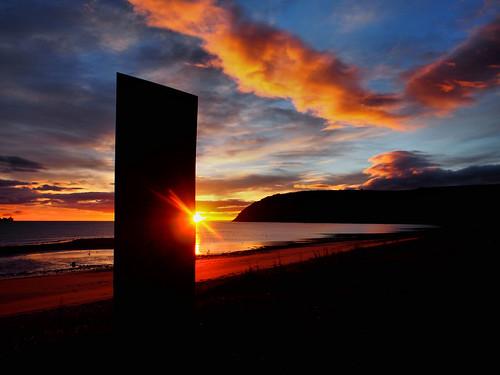 cromarty sutor sunrise scotland emigration stone
