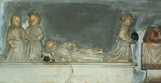 four young Reade boys, one sleeping, two with skulls