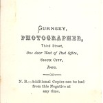 CDV's By B. H. Gurnsey, Sioux City, Iowa