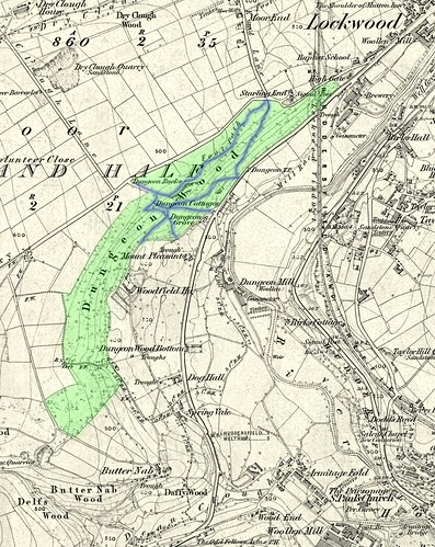 1854 map of Dungeon Wood | by huddersfieldexposed