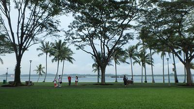 Park goers enjoying the beach at Pasir Ris