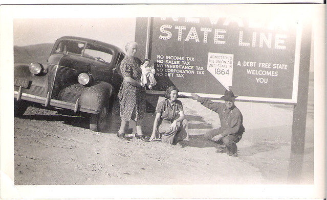 1941 Nevada- Jimmy, Dorothy, Grandma, Garndpa