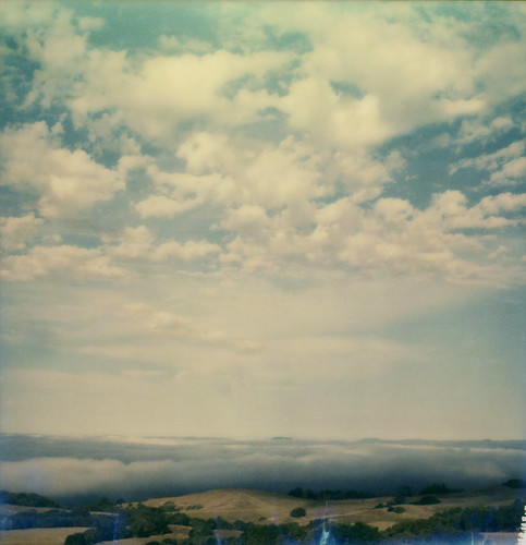 sky film fog clouds view instant slr680 sonomamountain theimpossibleproject roidweek2015 color600gen2beta