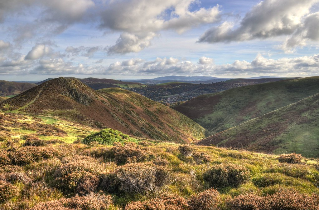 Townbrook Valley and the Long Mynd, Shropshire