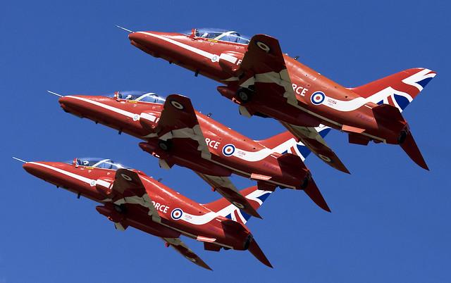 Red Arrows Triple Takeoff