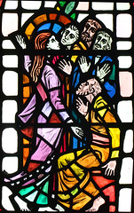 Mary Magdalene tells the Disciples that Christ is alive by Hugh Powell, 1963