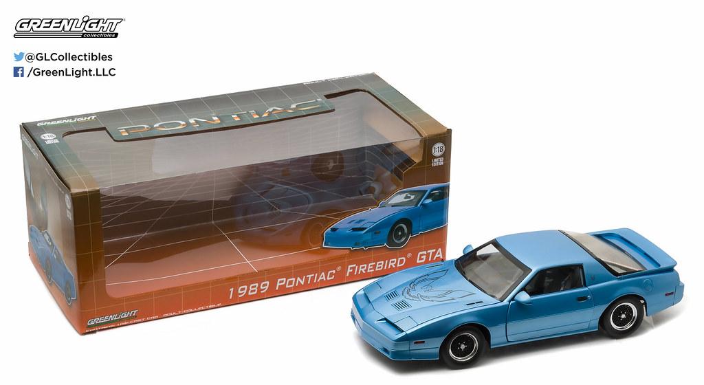 GREENLIGHT 12933 1:18 1989 PONTIAC TRANS AM GTA MEDIUM MAUI BLUE METALLIC