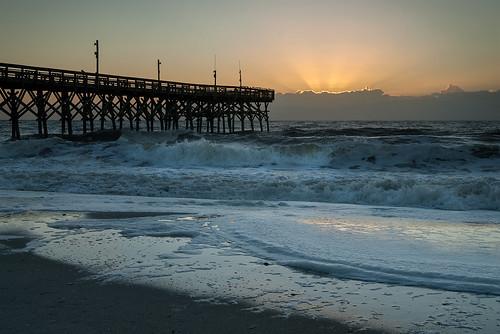sunrise atlanticocean myrtlebeachsc nikond200 pier14 thanksgivingmorning