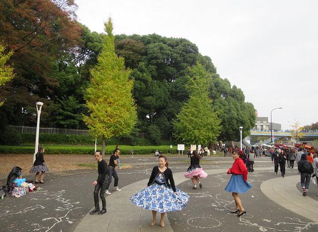 Rock 'n rollers in Yoyogi Park, Tokyo