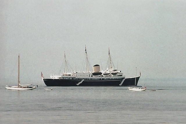 * HMY Britannia at Anchor off Cowes, 1981.