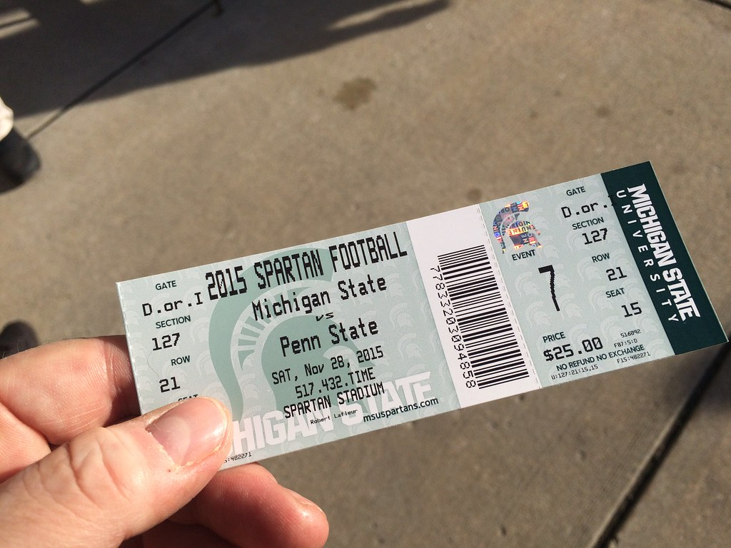 25 Tickets For A Sell Out Selfie 2015 Michigan State Vs P Flickr