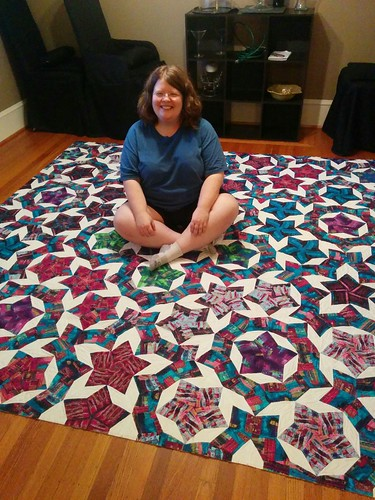 Quilter included to show scale.