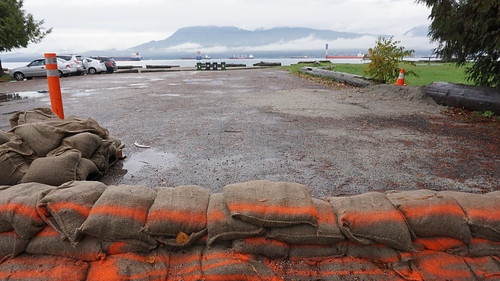 Behind the line: City of Vancouver preparations for King Tides at Locarno Beach