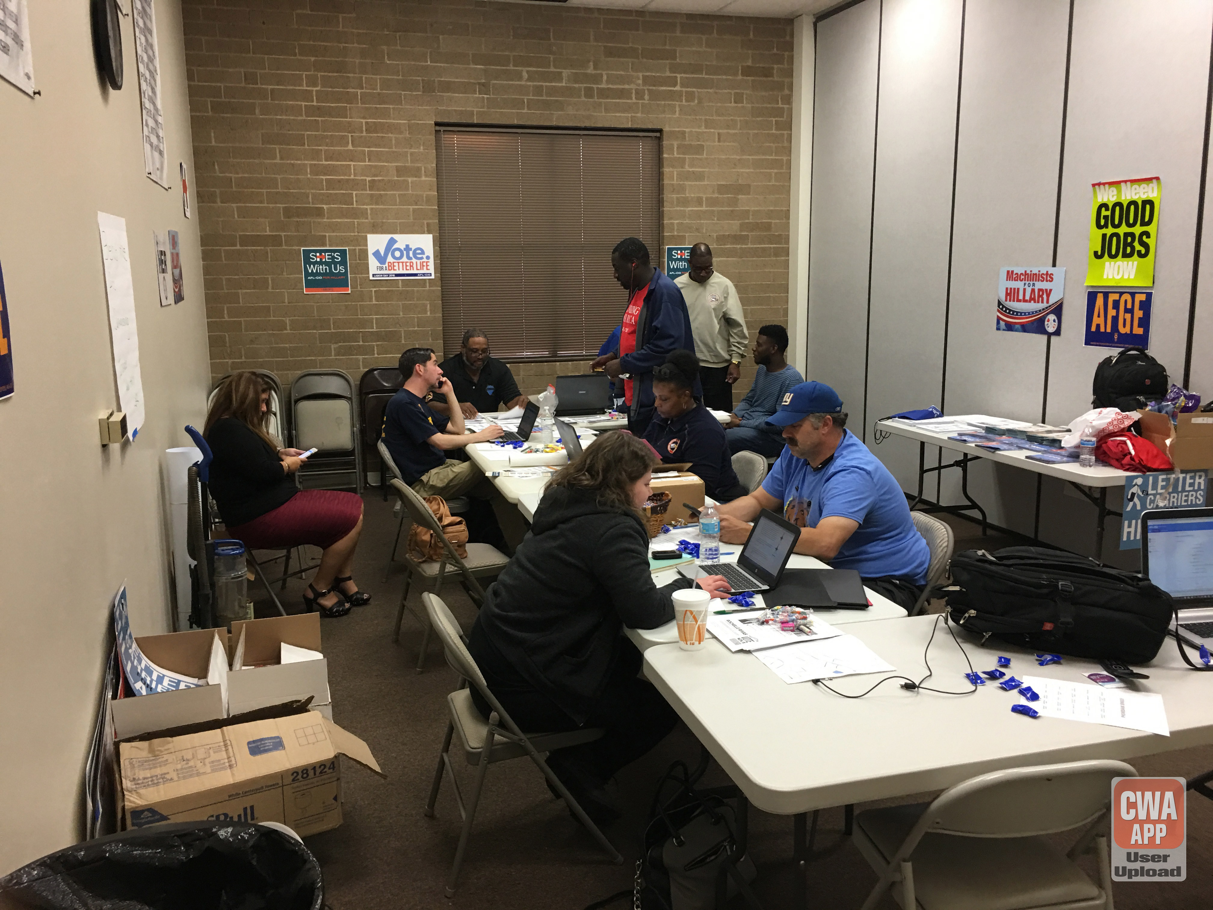 Charlotte North Carolina Hustle to Get Out the Vote