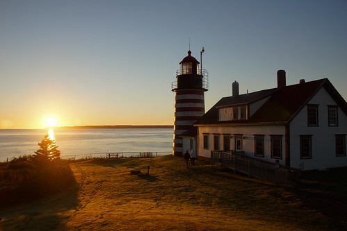 maine mainecoast quoddyheadstatepark sunrise lighthouse westquoddyheadlighthouse quoddyhead sun sunshine