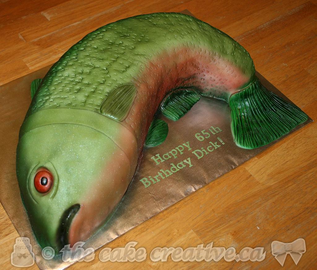 Enjoyable Salmon Birthday Cake A Special 65Th Birthday Treat For An Flickr Birthday Cards Printable Opercafe Filternl