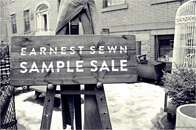 Earnest Sawn Sample Sale.