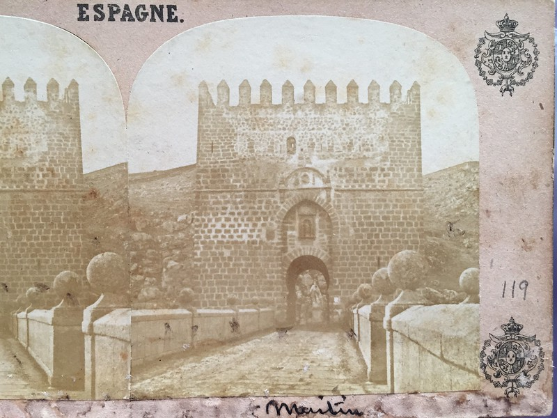 Puente de San Martín en 1857 por Eugène Sevaistre. Colección Luis Alba.