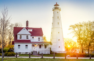North Point Lighthouse at Sunrise | by VBuckley.com