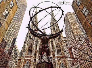 Atlas (statue) - New York City - Rockefeller Center [Explored 12/16/2015]