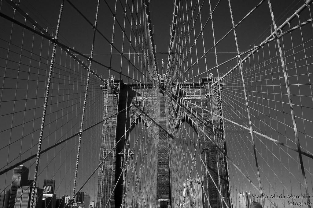 Brooklyn bridge detail, New York USA (analog)