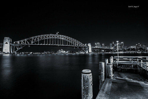 city nightphotography urban bw reflection monochrome geotagged photography blackwhite flickr harbour sydney australia wharf nsw sydneyharbour sydneyoperahouse sydneyharbourbridge waterways kirribilli mcmahonspoint markbimagery