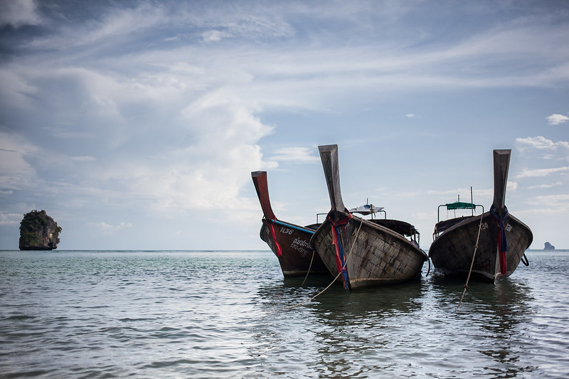 Long Tail Boats @ Phra Nang Beach, Krabi